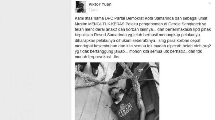 Beredar Foto Terduga Pelaku Pengeboman di Gereja Samarinda, Begini Kondisinya