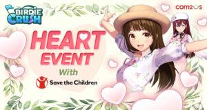 """Game Golf Fantasi """"Birdie Crush"""" mengadakan Charity """"Heart Event"""" bersama gamer dari seluruh dunia!"""